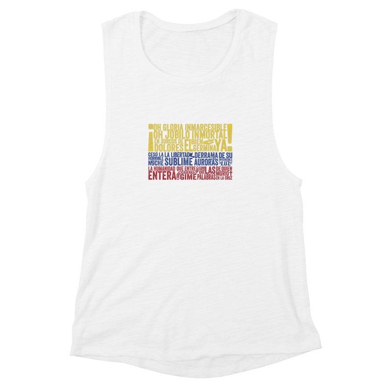 Bandera de Colombia Women's Muscle Tank by Realismagico's Artist Shop