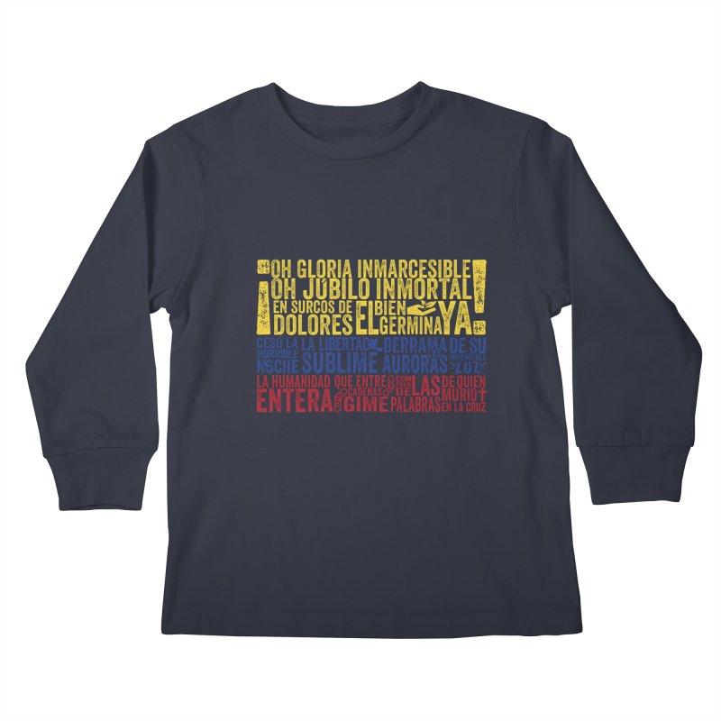Bandera de Colombia Kids Longsleeve T-Shirt by Realismagico's Artist Shop