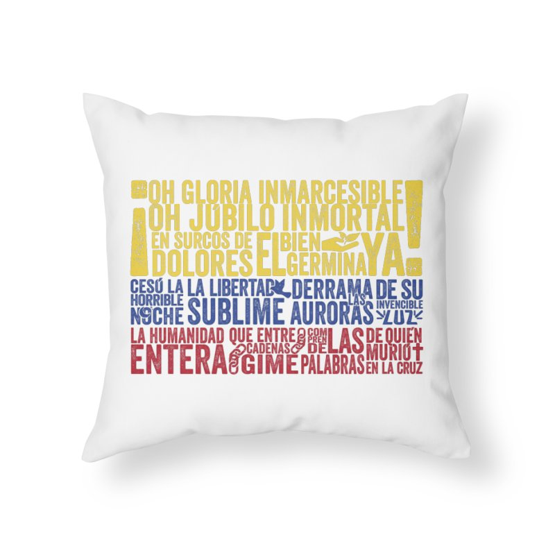 Bandera de Colombia Home Throw Pillow by Realismagico's Artist Shop