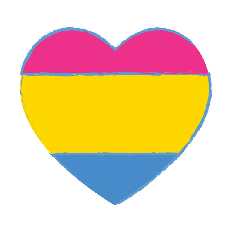 Pansexual Heart   by Rebecca's Artist Shop