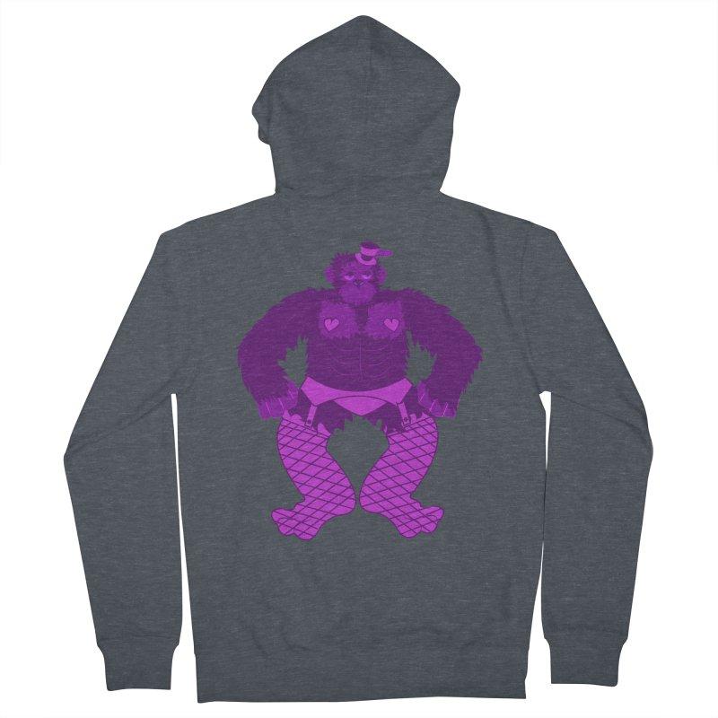 Showgirl Gorilla  Men's Zip-Up Hoody by Rebecca's Artist Shop
