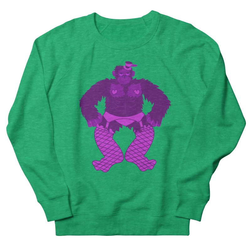 Showgirl Gorilla  Women's Sweatshirt by Rebecca's Artist Shop