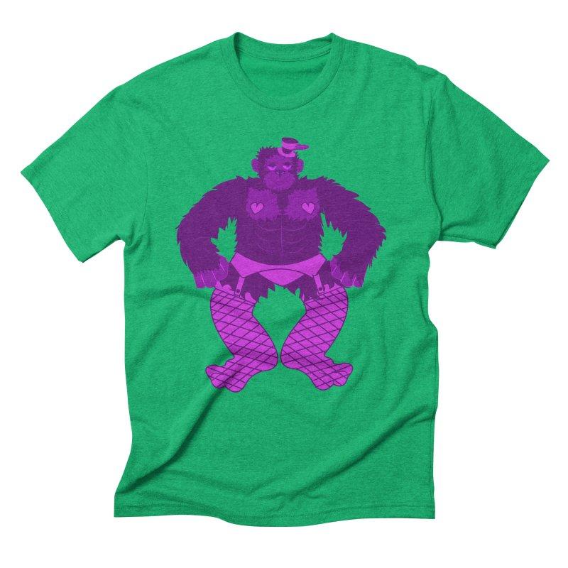 Showgirl Gorilla  Men's Triblend T-Shirt by Rebecca's Artist Shop