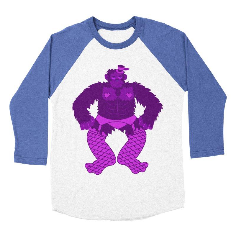 Showgirl Gorilla  Men's Baseball Triblend T-Shirt by Rebecca's Artist Shop