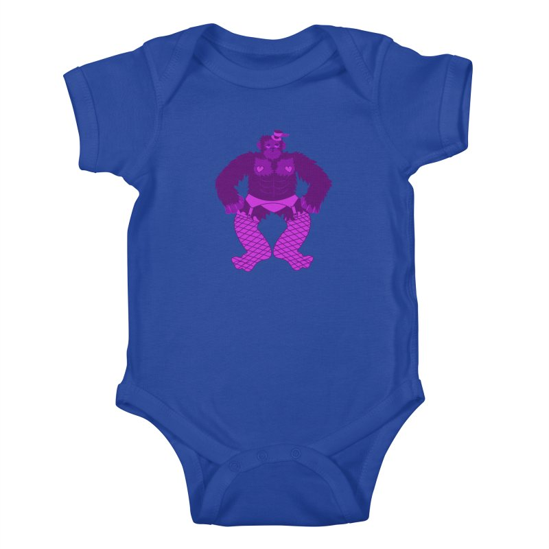 Showgirl Gorilla  Kids Baby Bodysuit by Rebecca's Artist Shop