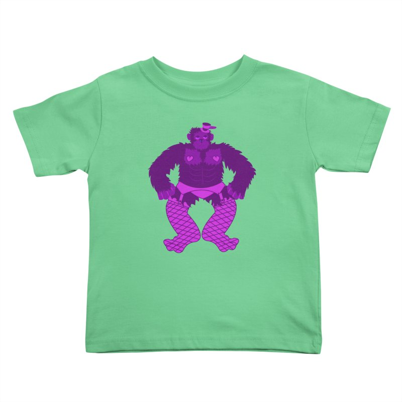 Showgirl Gorilla  Kids Toddler T-Shirt by Rebecca's Artist Shop