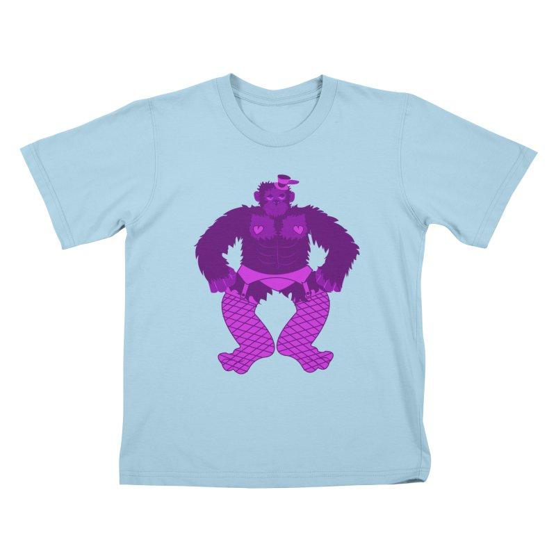 Showgirl Gorilla  Kids T-Shirt by Rebecca's Artist Shop
