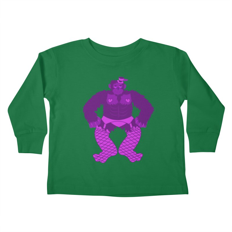 Showgirl Gorilla  Kids Toddler Longsleeve T-Shirt by Rebecca's Artist Shop