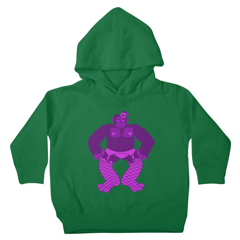 Showgirl Gorilla  Kids Toddler Pullover Hoody by Rebecca's Artist Shop
