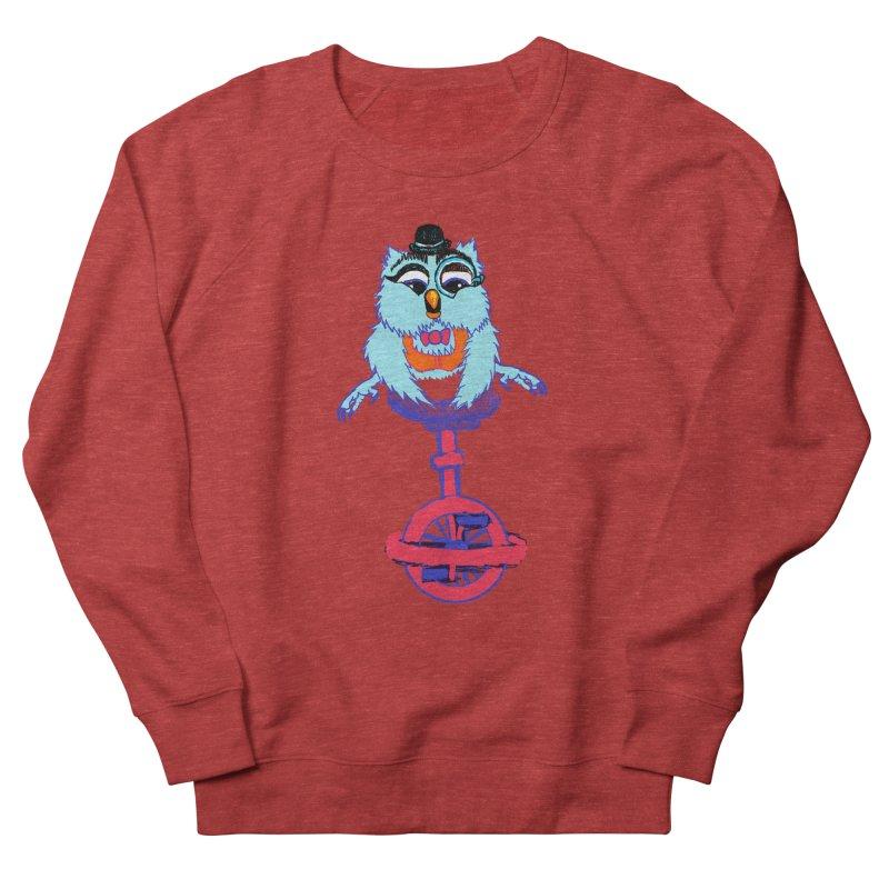 Owl on a Unicyle Women's Sweatshirt by Rebecca's Artist Shop