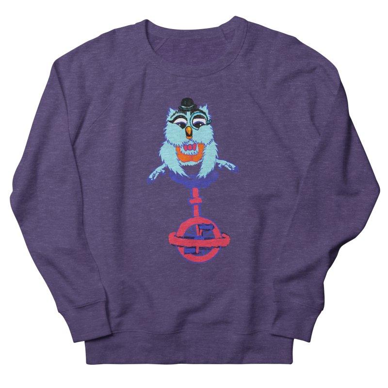 Owl on a Unicyle Men's Sweatshirt by Rebecca's Artist Shop