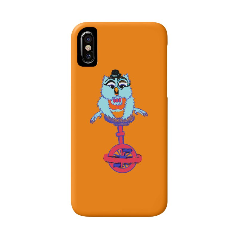Owl on a Unicyle Accessories Phone Case by Rebecca's Artist Shop