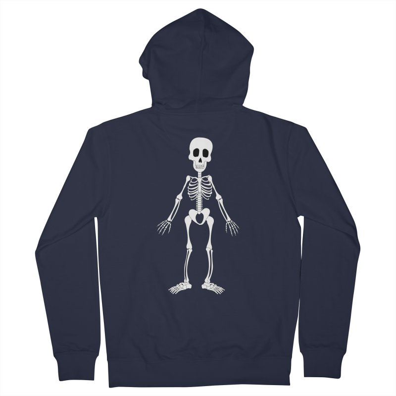 Skully Men's Zip-Up Hoody by Rebecca's Artist Shop