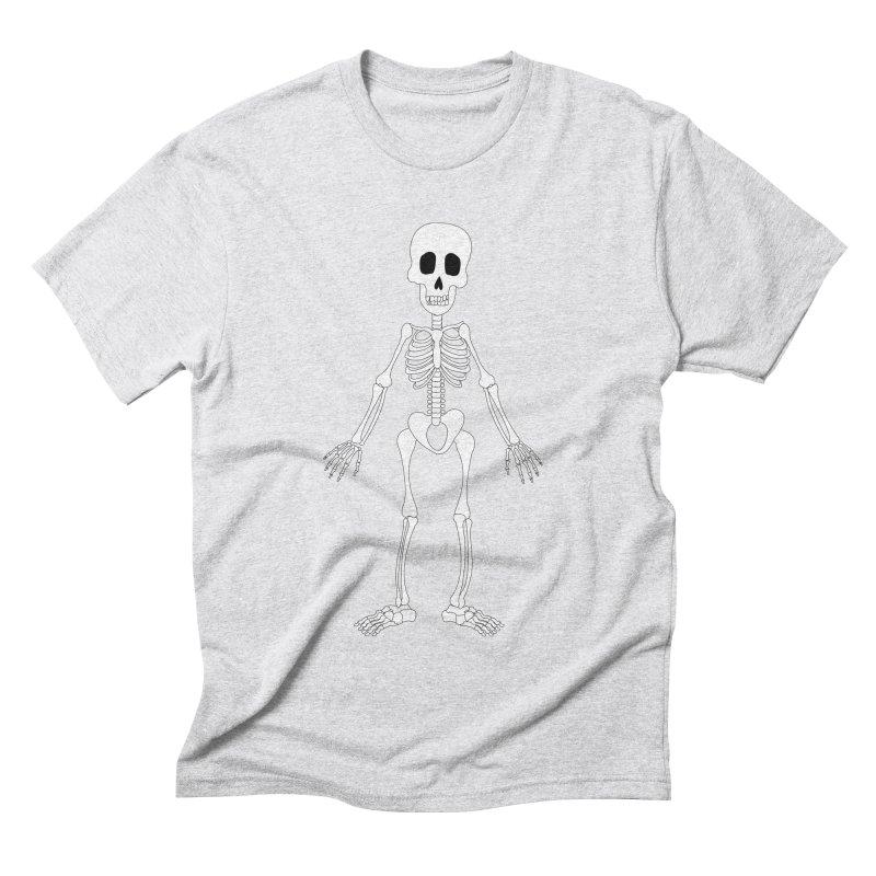 Skully Men's Triblend T-shirt by Rebecca's Artist Shop