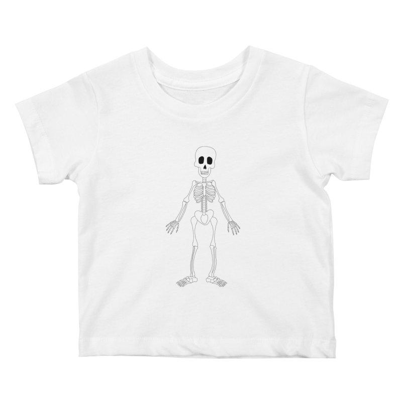 Skully Kids Baby T-Shirt by Rebecca's Artist Shop