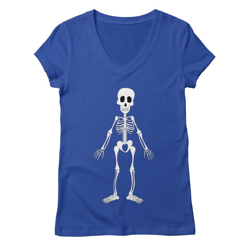 Skully Women's V-Neck by Rebecca's Artist Shop