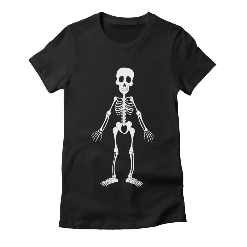 Skully Women's Fitted T-Shirt by Rebecca's Artist Shop