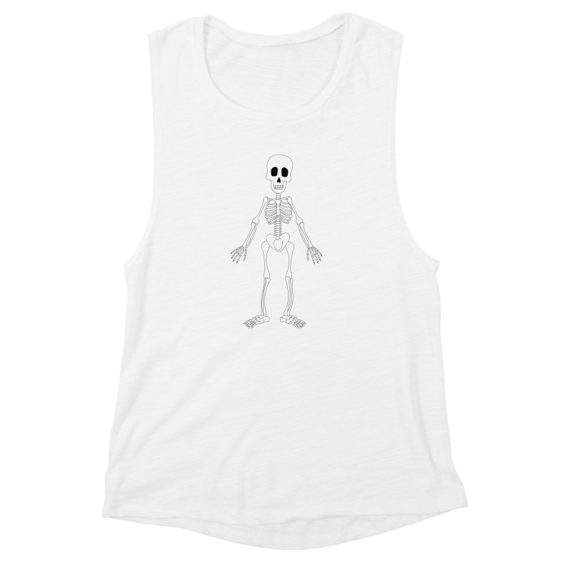 Skully Women's Muscle Tank by Rebecca's Artist Shop