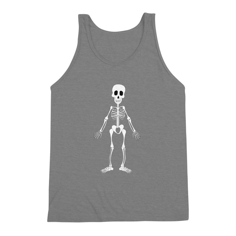 Skully Men's Triblend Tank by Rebecca's Artist Shop
