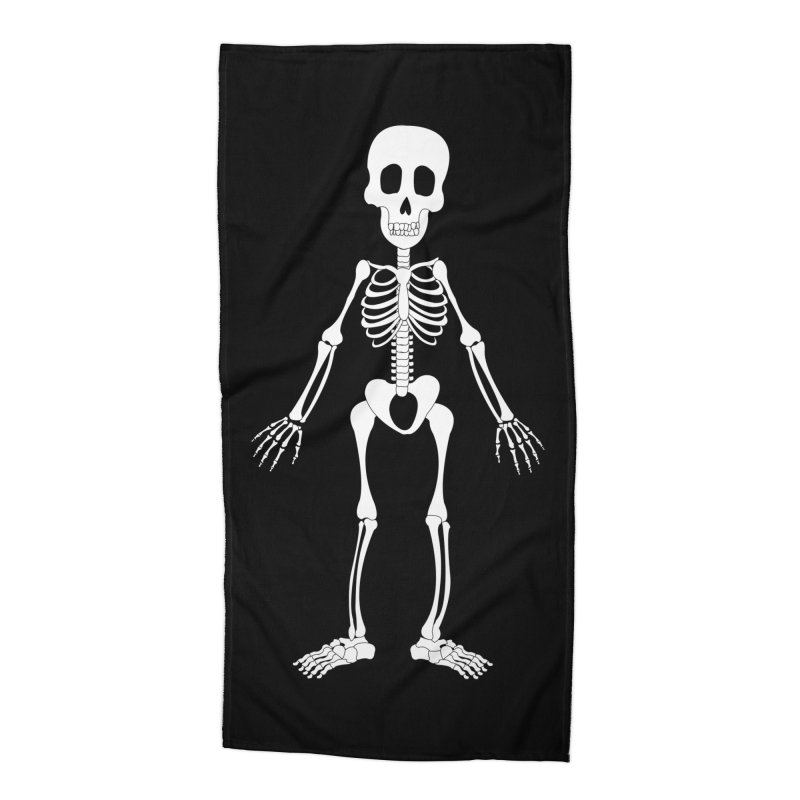 Skully Accessories Beach Towel by Rebecca's Artist Shop