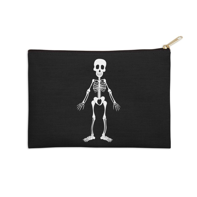 Skully Accessories Zip Pouch by Rebecca's Artist Shop