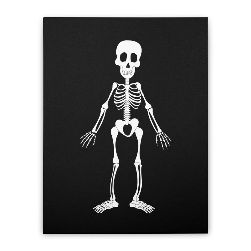 Skully Home Stretched Canvas by Rebecca's Artist Shop