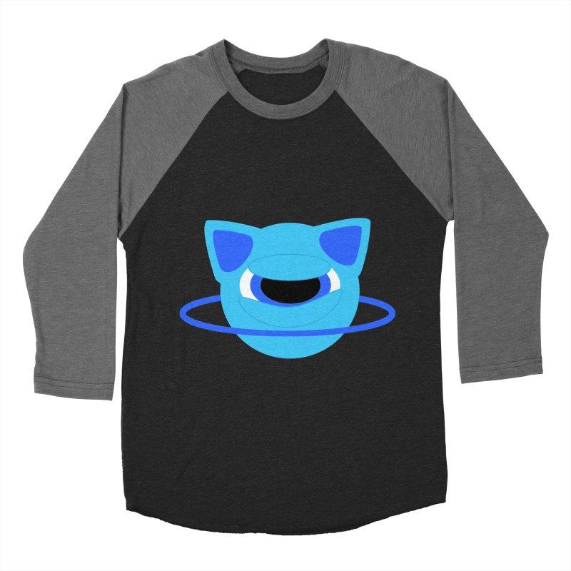 Neptune Cat Women's Baseball Triblend T-Shirt by Rebecca's Artist Shop