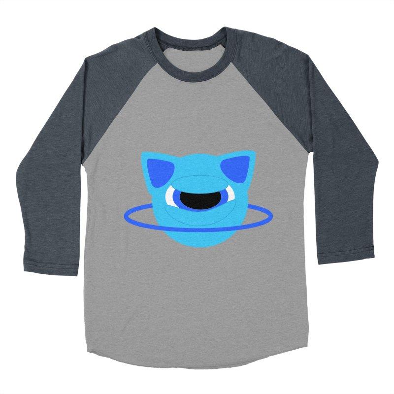 Neptune Cat Men's Baseball Triblend T-Shirt by Rebecca's Artist Shop