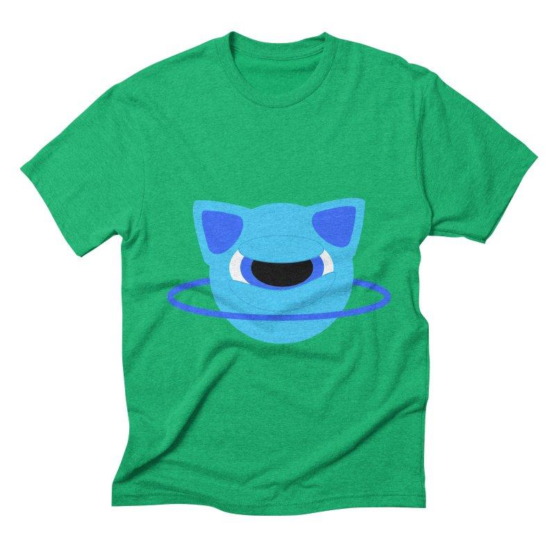 Neptune Cat Men's Triblend T-shirt by Rebecca's Artist Shop