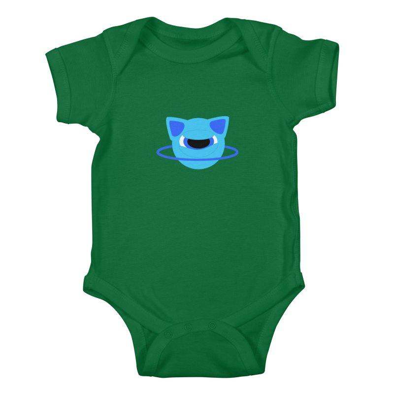 Neptune Cat Kids Baby Bodysuit by Rebecca's Artist Shop