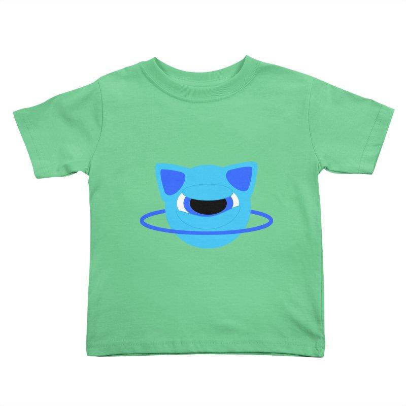 Neptune Cat Kids Toddler T-Shirt by Rebecca's Artist Shop