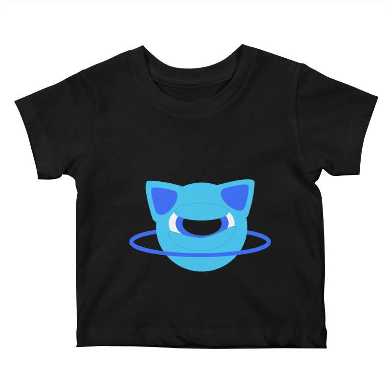 Neptune Cat Kids Baby T-Shirt by Rebecca's Artist Shop