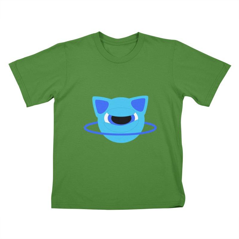 Neptune Cat Kids T-shirt by Rebecca's Artist Shop