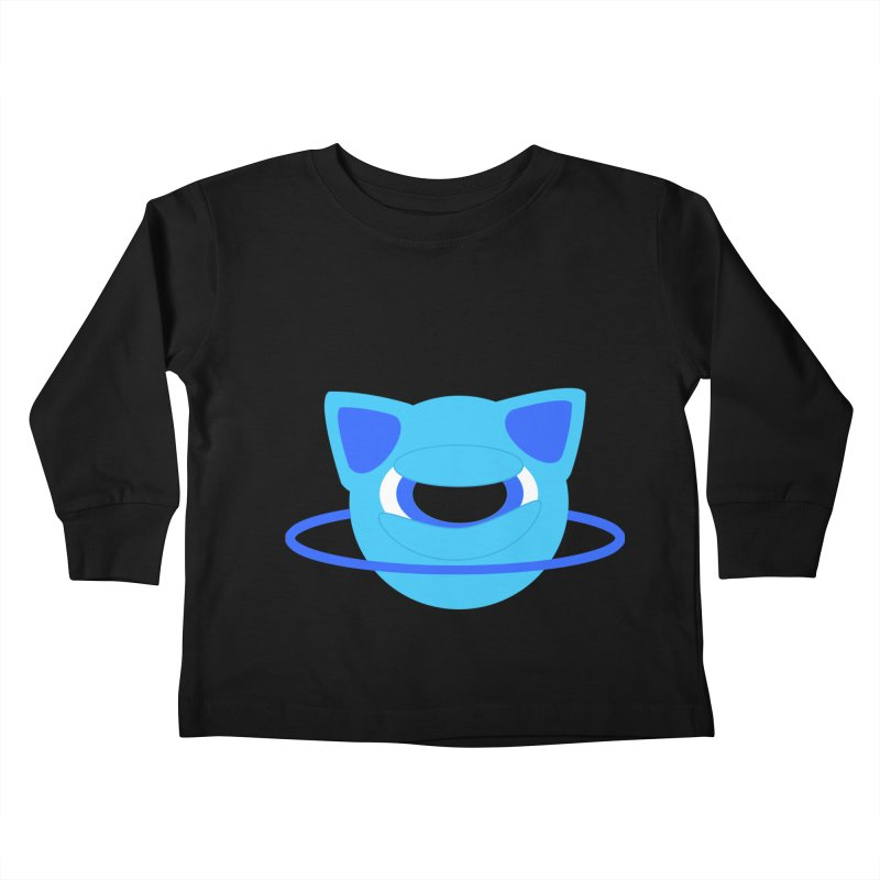 Neptune Cat Kids Toddler Longsleeve T-Shirt by Rebecca's Artist Shop