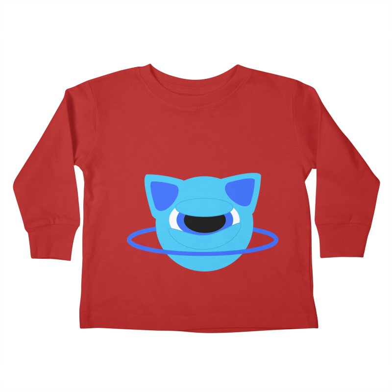 Neptune Cat Kids Toddler Longsleeve T-Shirt by Rebecca's Artist Shop