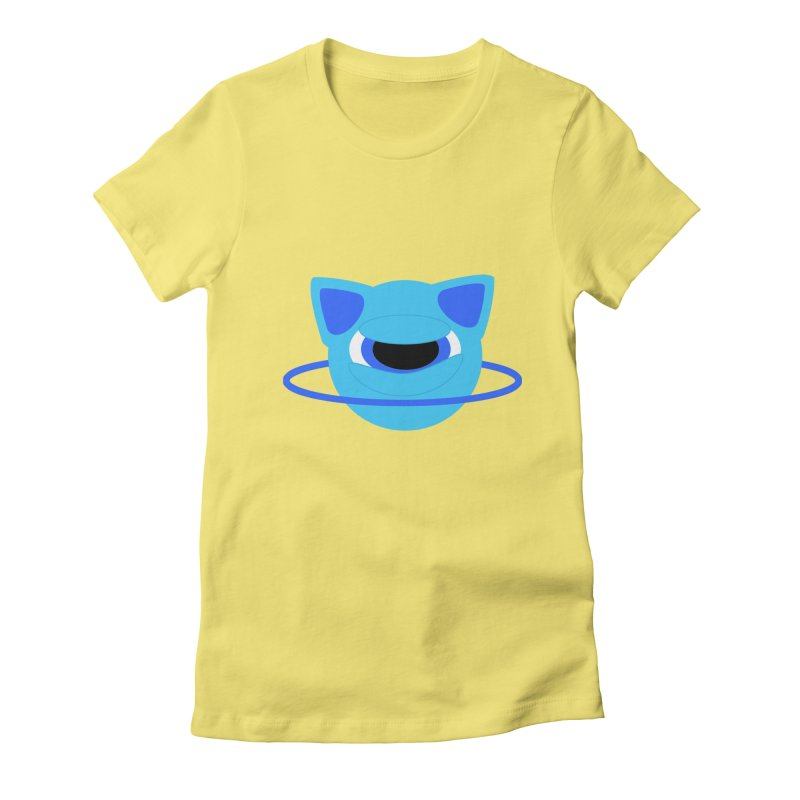 Neptune Cat Women's Fitted T-Shirt by Rebecca's Artist Shop