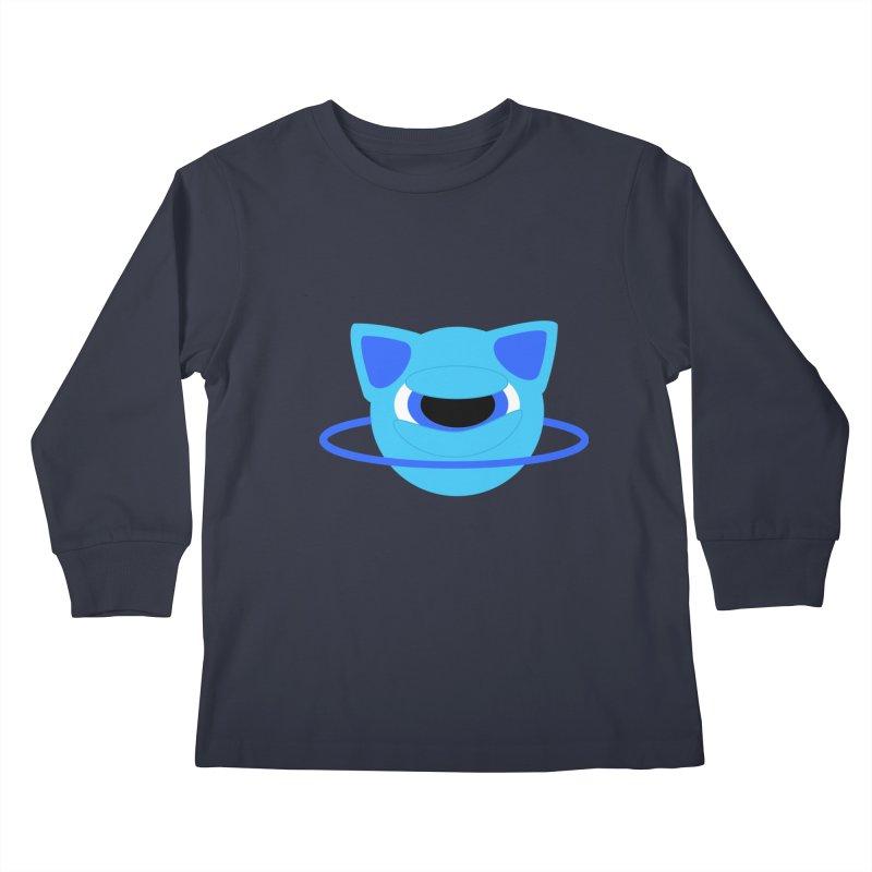 Neptune Cat Kids Longsleeve T-Shirt by Rebecca's Artist Shop