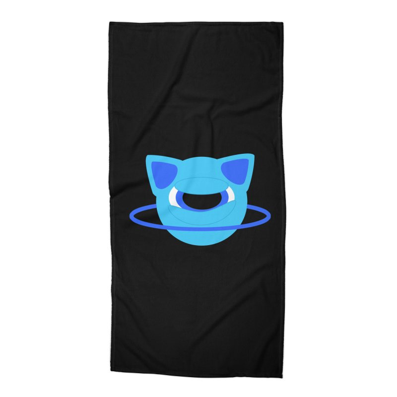 Neptune Cat Accessories Beach Towel by Rebecca's Artist Shop