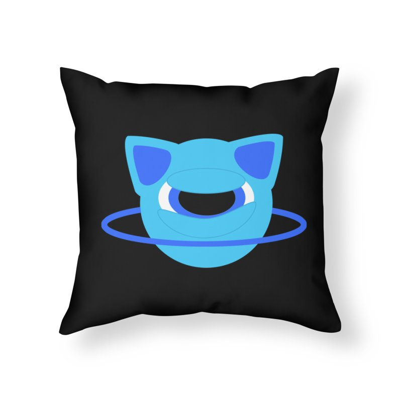 Neptune Cat Home Throw Pillow by Rebecca's Artist Shop