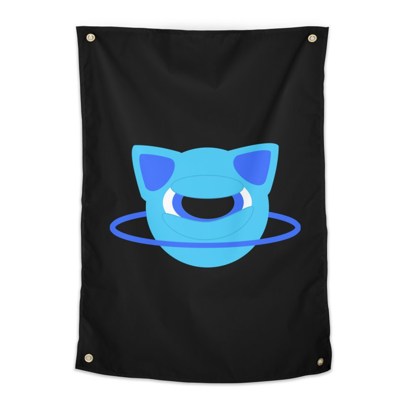 Neptune Cat Home Tapestry by Rebecca's Artist Shop