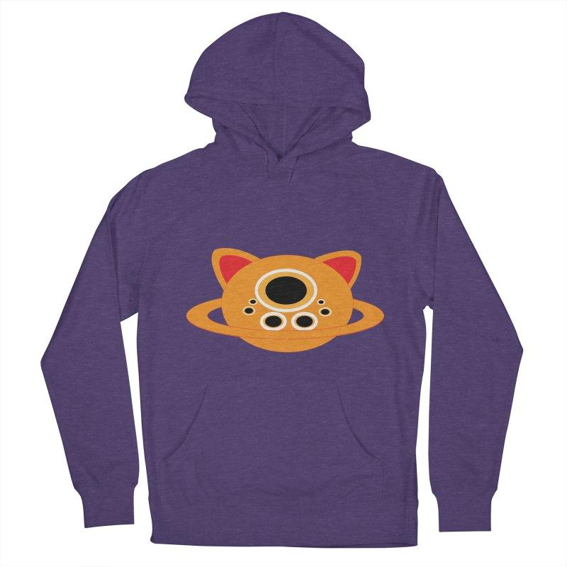 Saturn Cat Design  Men's Pullover Hoody by Rebecca's Artist Shop