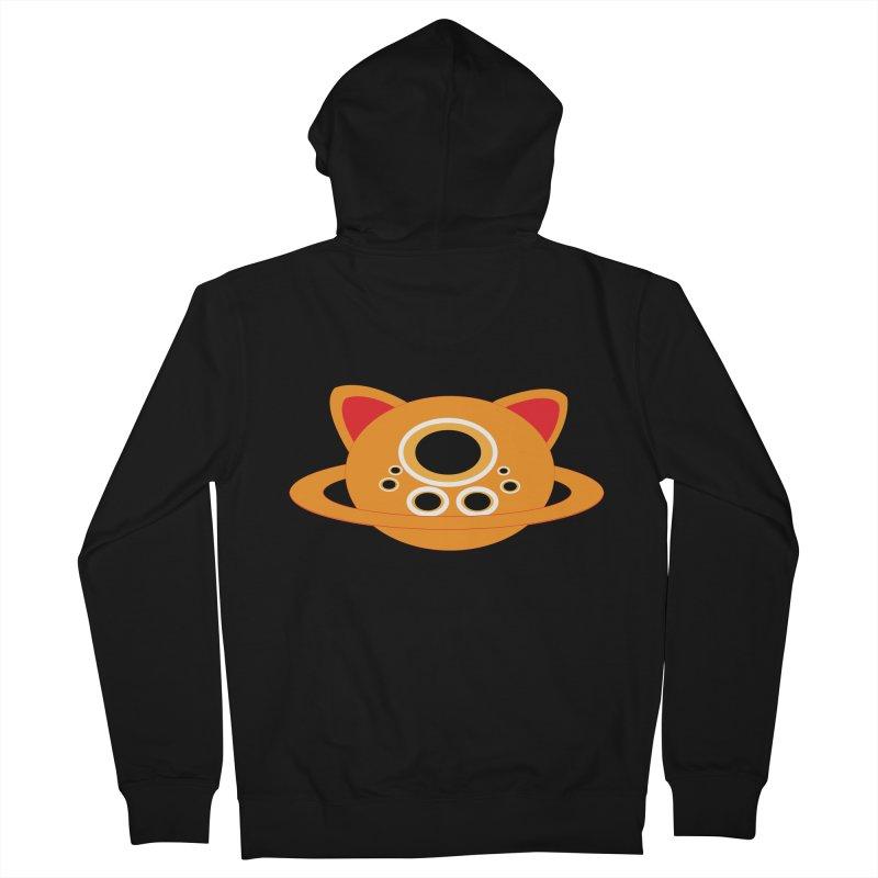 Saturn Cat Design  Men's Zip-Up Hoody by Rebecca's Artist Shop