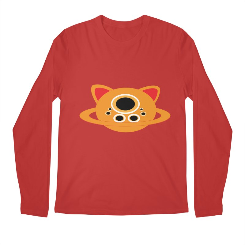Saturn Cat Design  Men's Longsleeve T-Shirt by Rebecca's Artist Shop