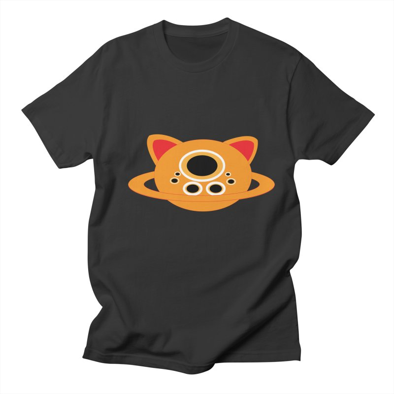 Saturn Cat Design  Men's T-shirt by Rebecca's Artist Shop