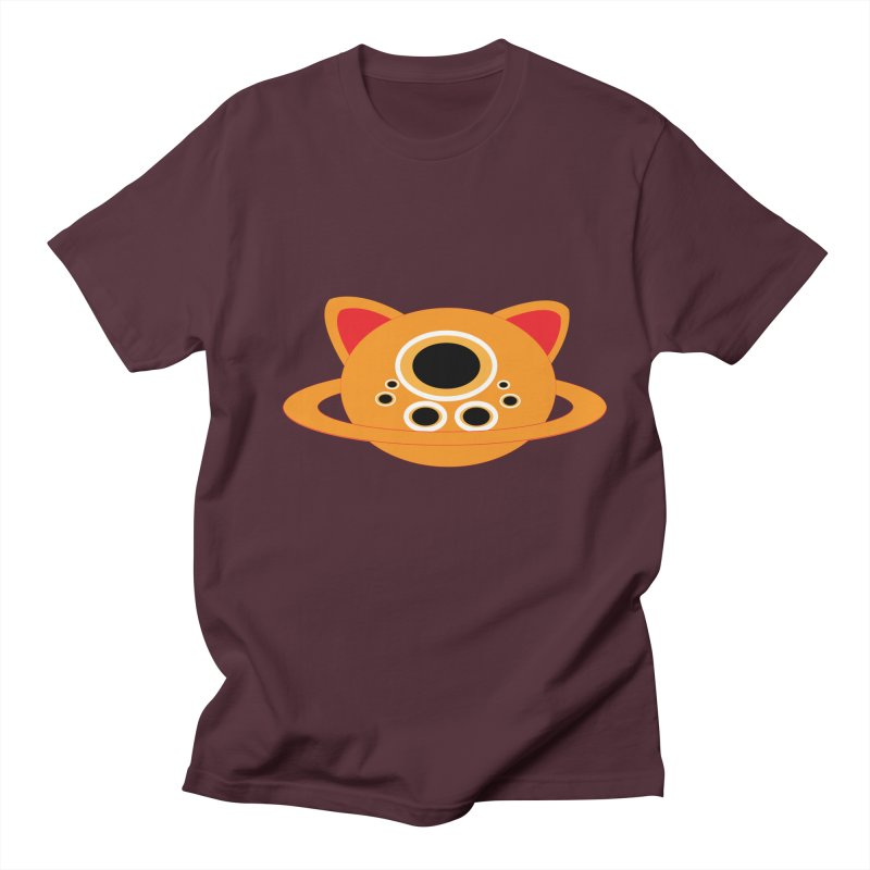 Saturn Cat Design  Men's T-shirt by Rebecca's Artist Shop