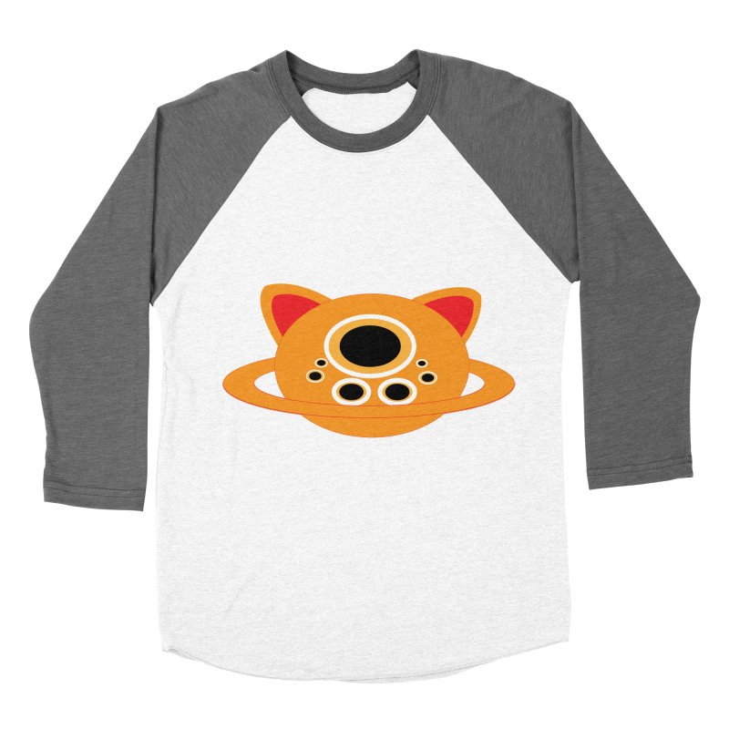 Saturn Cat Design  Women's Baseball Triblend T-Shirt by Rebecca's Artist Shop