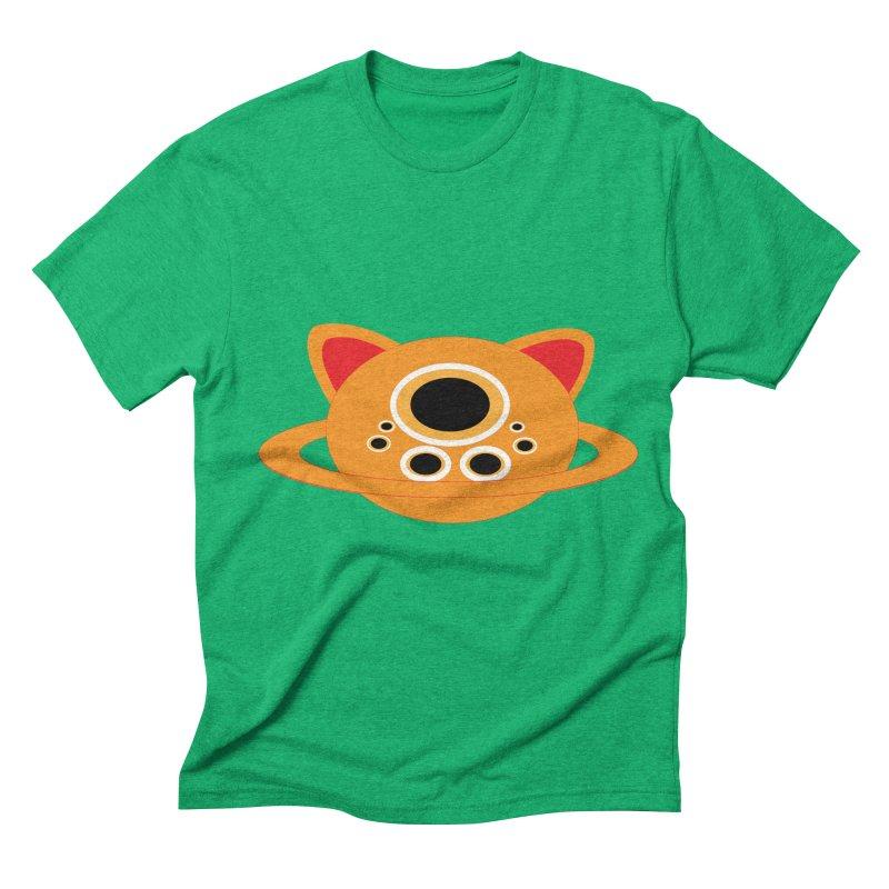 Saturn Cat Design  Men's Triblend T-shirt by Rebecca's Artist Shop