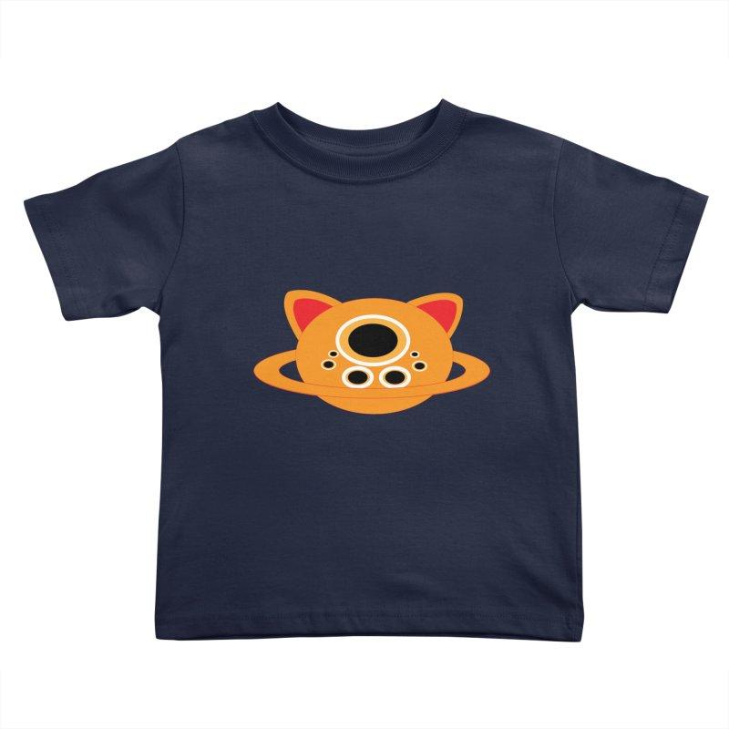 Saturn Cat Design  Kids Toddler T-Shirt by Rebecca's Artist Shop