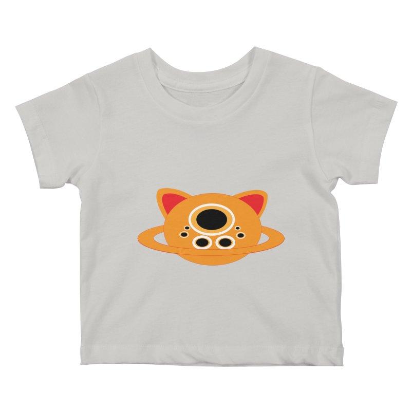 Saturn Cat Design  Kids Baby T-Shirt by Rebecca's Artist Shop
