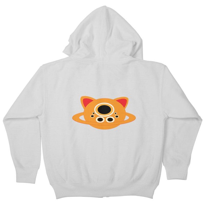Saturn Cat Design  Kids Zip-Up Hoody by Rebecca's Artist Shop